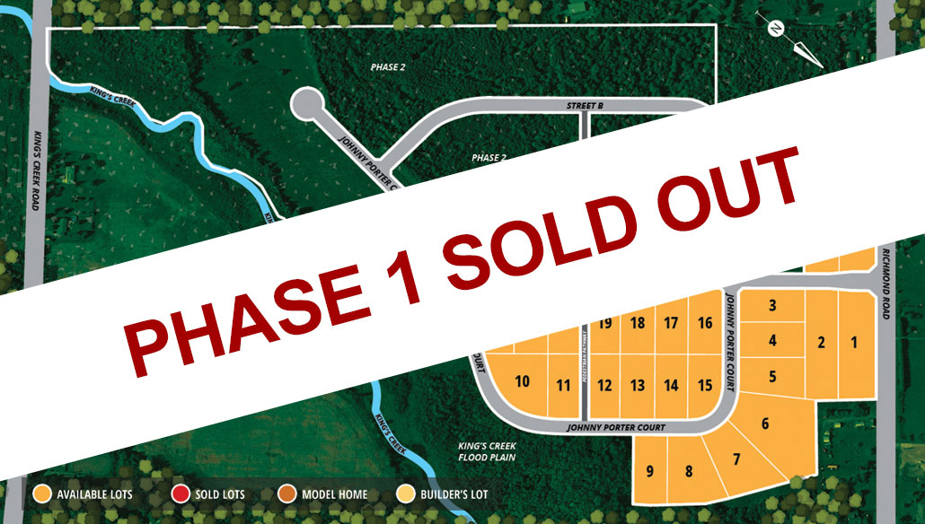 Kings Creek Phase 1 Sold Out